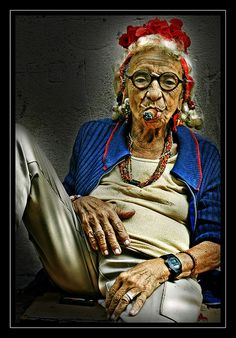 The coolest lady in Havana - http://www.cuba-junky.com