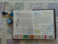 Last week's journal entry #journal #planner #bulletjournal #travelersnotebook