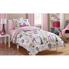 Mainstays Kids Paris Bed in a Bag Bedding Set - Walmart.com