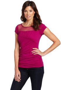 Kenneth Cole Women`s Boat-Neck Ruched Knit Top $47.99