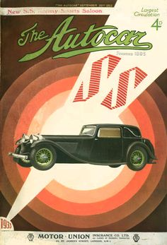 1932 Autocar magazine Jaguar cover