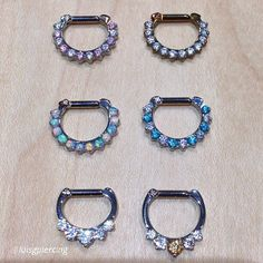 infinitebody: More from Mininova push-pin end from BVLA with graduated CZ baguettes around an synthetic arctic blue sapphire. Medusa Piercing, Body Jewelry Piercing, Septum Jewelry, Body Piercing, Septum Clicker, Facial Piercings, Piercing Ideas, Peircings, Body Mods