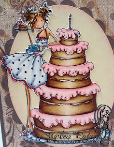 Marlena's Paper Paradise: MarkerPop - Stamping Bella, Bianca Loves Her Big Cake