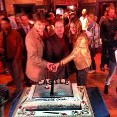 happy anniversary! Nathan Fillion & Stana Katic celebrating #Castle's 100th episodes