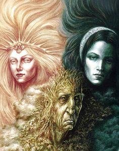 Eguzkia, Ilargia, et Amalurra--Basque Goddesses