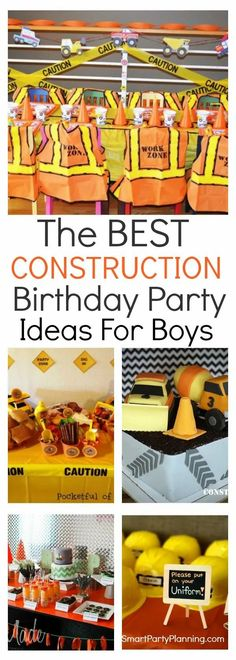 Awesome construction birthday party ideas that kids will love. Easy to implement DIY games, decorations, food and favors. This is a fun filled party full of dump trucks and dirt. It's not just for boys. This is the perfect theme for all kids that love fun, and creative play. 3 Year Old Birthday Party Boy, Birthday Games For Kids, Birthday Party Games For Kids, Party Themes For Boys, Birthday Party Themes, Birthday Decorations, Boys 2nd Birthday Party Ideas, Birthday Cakes, 2nd Birthday Party For Boys