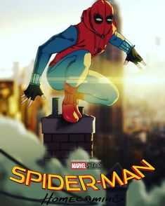 Spider-Man by Nikolay Zhirkov----I just saw the movie and it was AWESOME! I love Tom Holland as Spidey! Marvel Comics, Marvel Heroes, Marvel Cinematic, Marvel Avengers, Spiderman Art, Amazing Spiderman, Spider Verse, The Villain, Comic Character