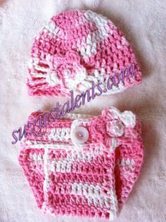 PATTERN PT019  Hat and Diaper Cover Set by PatternsDesigner, $6.99