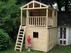 could use a storage shed -- maybe build a playhouse too...
