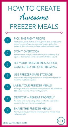 How to Create Awesome Freezer Meals