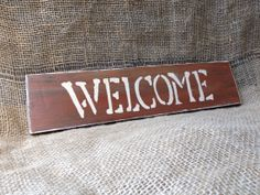Rustic Reclaimed Wood Welcome Wall Sign by AmysReclaimed on Etsy, $14.00