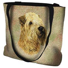 Soft Coated Wheaten Terrier Dog Portrait Tote Bag