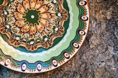 Bulgarian traditional hand made plate,