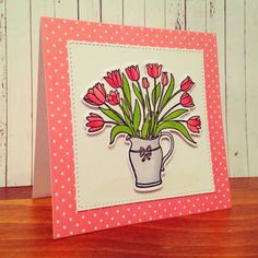 Amuse Studio Happiness Blooms stamp set with matching die.
