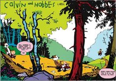 8. When the dynamic duo taught us the pure joy of just hanging out: | 15 Times Calvin And Hobbes Reminded You To Never Stop Exploring