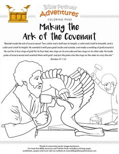 Bible Coloring Page: Making the Ark of the Covenant | Free Download
