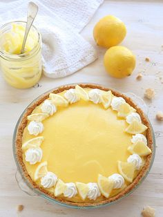 Lemon Mousse Pie with Shortbread Crust from completelydelicious.com by ...
