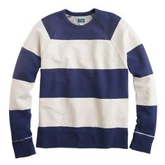 Sunwashed fleece sweatshirt in stripe - fleece - Men's tees, polos & fleece - J.Crew
