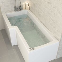 Ceramica Left Handed L Shaped Bath with 8 Jet Whirlpool at lowest online prices (checked daily). Ready to order now at The UK& largest independent online retailer of bathroom products. All the top brands at internet only prices. Trading online since 1999 L Shaped Bathroom, Bathroom Shop, Modern Bathroom, Small Bathroom, Bathroom Ideas, Bathtubs For Sale, Best Bathtubs, Shower Jets, Small Spa