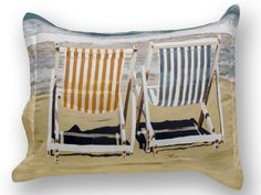 Beach Bedding - cotton sateen standard sham. Found on www.artnbed.com #beach #coastal #bedding #decor