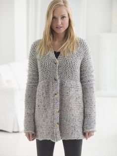 You won't believe how EASY it is to knit your first cardigan! Get the free pattern and watch our video tutorial!