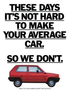 Fiat Panda Advert (1980) Art Print