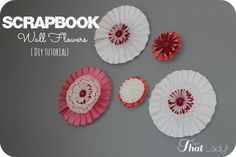 Are you looking for an inexpensive decorating idea for your walls? See how you can make these scrapbook wall flowers for under $10.00!
