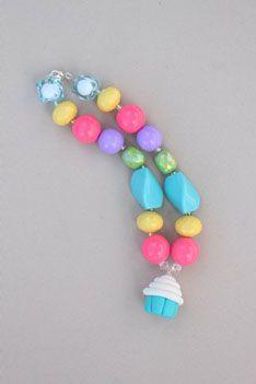 Gumball Beads - Cupcake Necklace