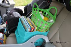 How to survive a 12-hr road trip with two babies by yourself...roadtrip tricks, tips, and creative ideas! Going to need this for our 18 hour drive to Texas. :)
