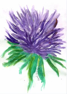 Birthday Asters for September by TheMousersHouseArt on Etsy, $5.00