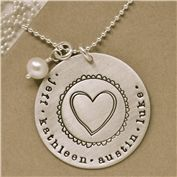 Have this, love it with my families name encircling the brave heart