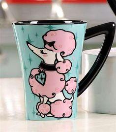 Retro Pink Poodle Mug
