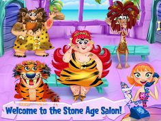 Cave Girl - Stone Age Salon App by TabTale LTD. Makeover, Salon, Kids Game Apps.