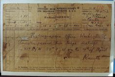 A radio telegram from the German ship the Amerika to the Titanic to warn her crew of the ice bergs,but the telegram was never deciphered by the ship's telegram operator.