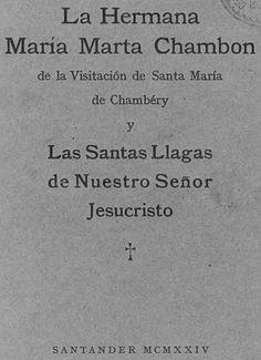 Santas Llagas de Jesús, y la hermana Maria Marta Chambon