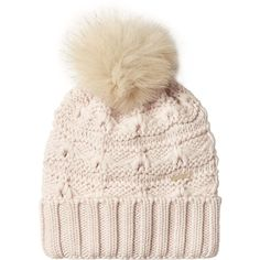 Woolrich Wool Hat ($88) ❤ liked on Polyvore featuring accessories, hats, rose, pompom hat, rosebud hats, pom pom hat, woolen hat and wool hat