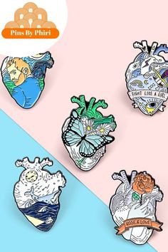 Add a little flair to your clothing/coat or apparel. Everyone will be asking where you got it, our little secret. #kawaiii #enamelpins #pinterest #onlineshopping #kiehls #puravida Heart Structure, Grand Opening, Lapel Pins, Heart Shapes, Wednesday, Enamel, Kawaii, Brooch