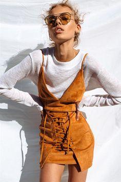 Stasia Lace Up Dress #SaboSkirt
