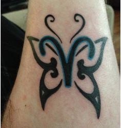 Aries butterfly. Butterfly symbolizes freedom and creativity while also showing the aries symbol as indepedent leader selfish and daring