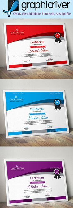 Certificate Certificate templates, Ai illustrator and - creative certificate designs