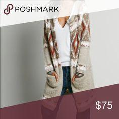 Free people long wool sweater coat jacket small EUC Free People Sweaters Cardigans