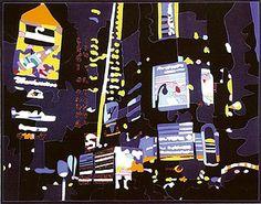 Ugo Nespolo - Broadway at night