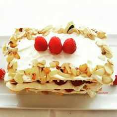 Raspberry with cottage Cheese and whipped cream