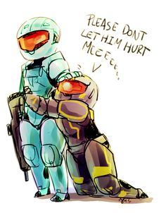 """The Washingtub must be protected - """"...I'm coming after you, Washington."""" """"Please kill him."""" RvB Season 13 (Art by madqueenmomo on Tumblr)"""