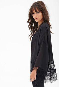 Eyelash Lace Kimono #F21StatementPiece