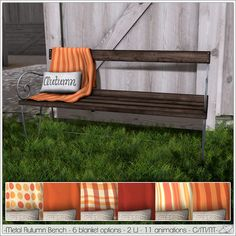 Alouette - Metal Autumn Bench (AD)