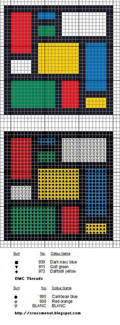 mondrian cross stitch