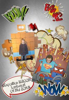 Digiscrap Super Héro Comic KaBoom