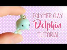 Kawaii Dolphin│Polymer Clay Charm Tutorial