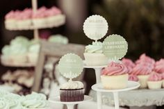 Cupcake Flavor Tags | Style Me Pretty